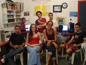 The Blog Volunteer Team (Front: Saulo, Amanda, Teresa, Diogo, Back: David, Charles, Cicero)
